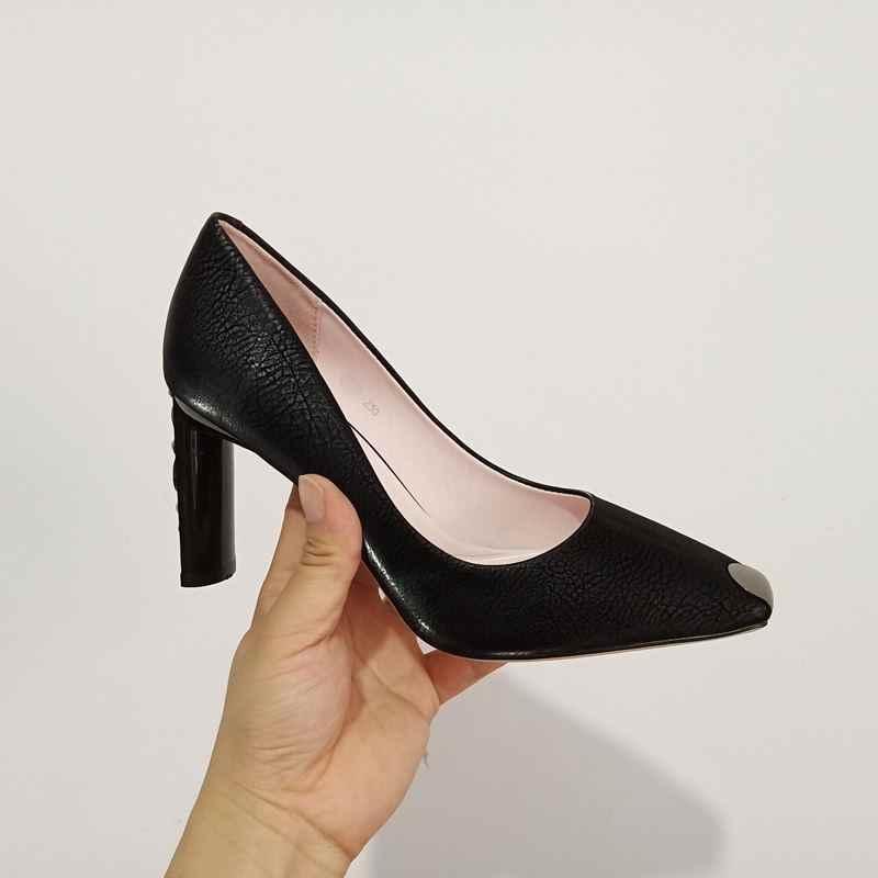 ALLBITEFO thời trang Ren chỉ Giày cao gót nữ giày nữ Cưới Nữ Giày cao gót nữ công sở cao cấp nữ gót