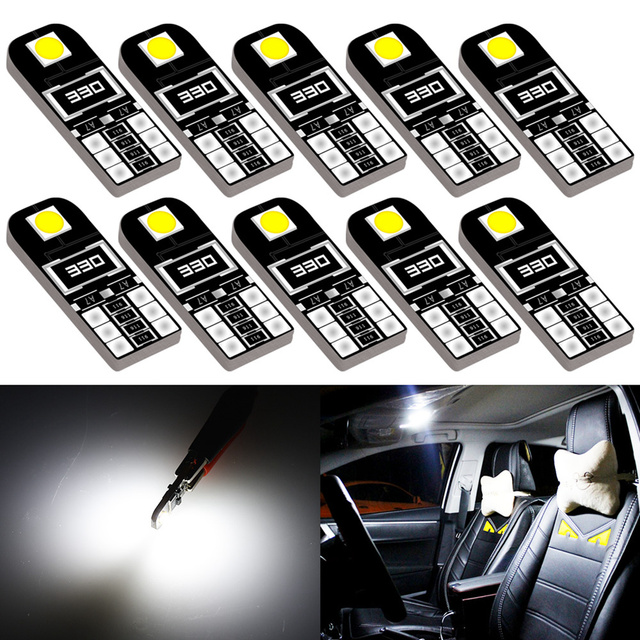 10x Car Interior Lights T10 LED W5W Canbus Bulb Car Led Light Car Reading Lights for Mazda cx-5 323 3 2010 2005 2015 6 2004 3 bl