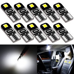 10x W5W Led Canbus Bulb Car Interior Lights T10 LED for BMW E46 E53 E90 E82 E60 X3 E83 E91 Touring X5 E70 X6 E71 E36 Coupe F25