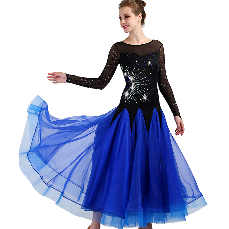 National Standard Dance Costume Lady Modern Dance Performance Clothing Ballroom Dance Competition Dresses Waltz Wear DQL1943