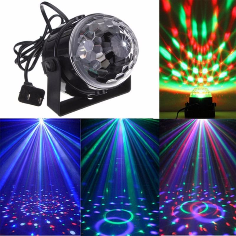 Mini RGB LED Crystal Magic Ball Stage Effect Lighting Lamp Bulb Party Disco Club DJ Light Show US/EU Plug