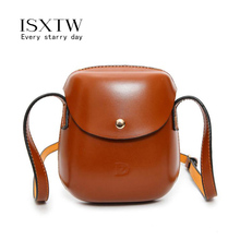 ISXTW 2019 New Fashion Pure Color Women PU Leather Shell Crossbady Shoulder Bag Messenger Vintage bags for women /A52