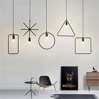 Moderno pingente de luz ferro pendurado gaiola moderna lâmpada led e27 loft industrial retro sala jantar restaurante bar café luminária|Luzes de pendentes| |  -