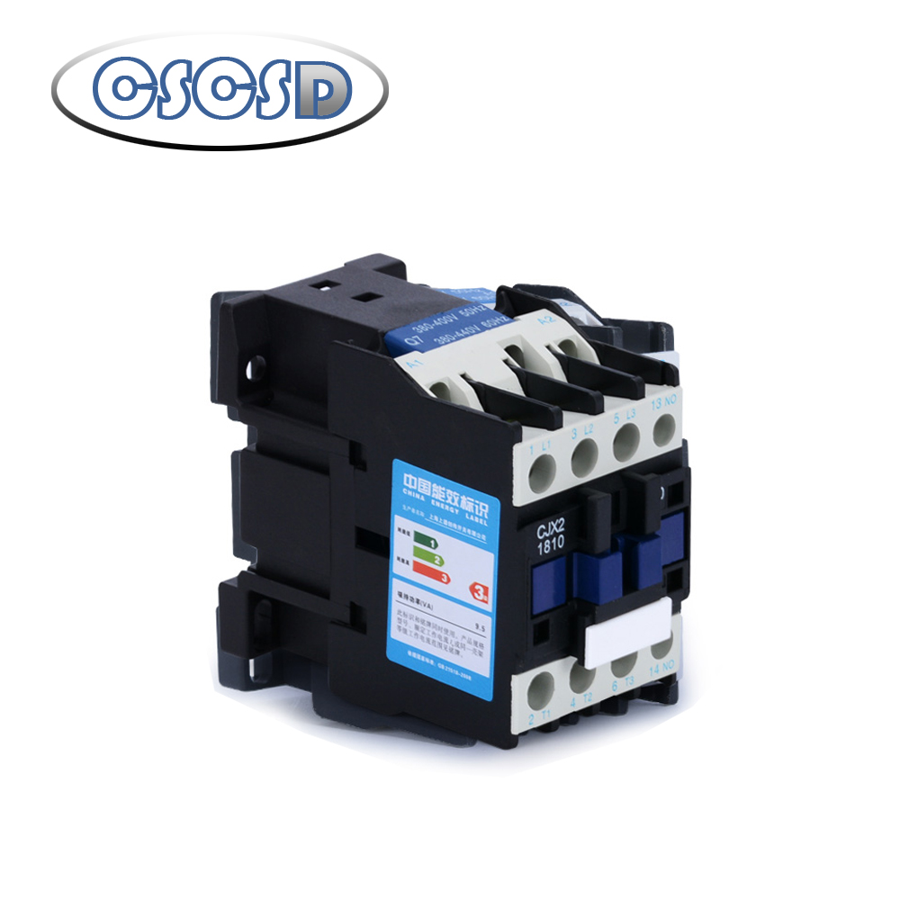 1pcs AC contactor <font><b>CJX2</b></font>-1810 <font><b>2510</b></font> 3210 1210 0910 18A switches single phase three phase voltage 380V 220V 110V 36V 24V image