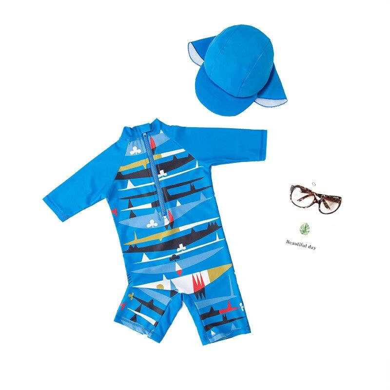 Купальник Детский слитный с защитой от УФ лучей и мультяшным