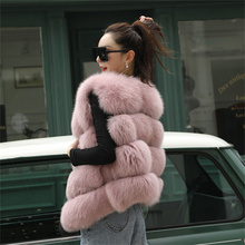 Women's Sleeveless Jacket 100% Fox Fur Vest 2021 Winter Fox Fur Coat Women's Short Fur Coat Oversized Women's Warm Vest