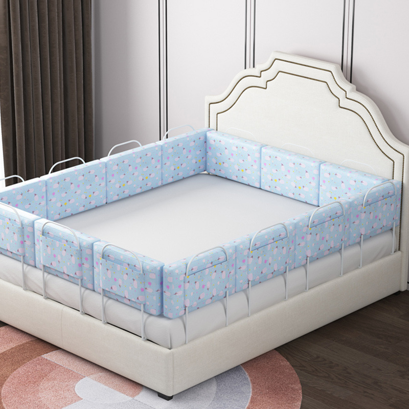 3100 # Baby Shatter-resistant Bed Fence Guardrail Infant Baffle Children Bed Edge Guardrail Soft Bag Universal Bed Guard