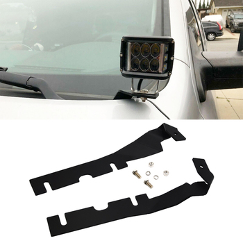 Left and Right Side Hood Hinges LED Cube Light Mounting Brackets Fit 2009-2019 DODGE RAM 1500 2500 3500