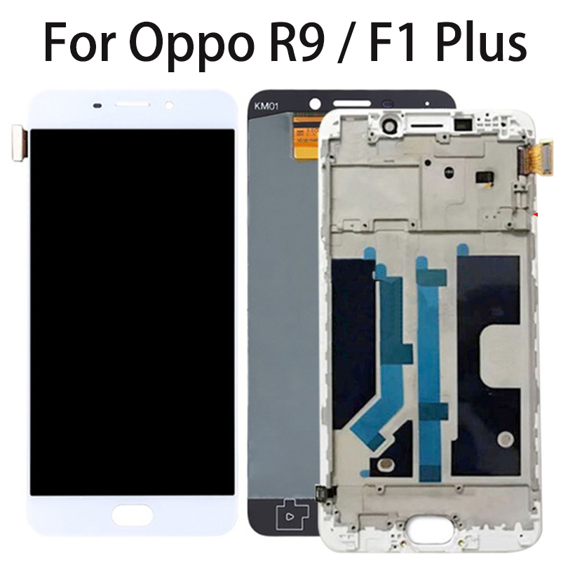"""5.5"""" AMOLED LCD For OPPO R9 R9m X9009 F1 Plus LCD Display Touch Screen with Frame Digitizer Sensor Assembly Replacement Parts"""