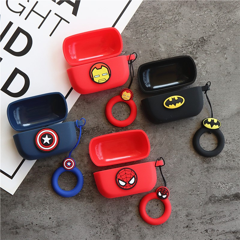 Cartoon Silicone Case For EDIFIER TWS1 Bluetooth Earbuds Protective Cover For EDIFIER TWS1 Charging Box With Finger Strap