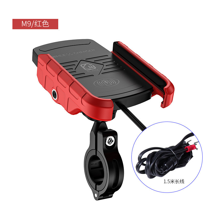 Waterproof 12V Motorcycle Phone Qi Fast Charging Wireless Charger Bracket Holder Mount Stand For IPhone Xs MAX XR X 8 Samsung