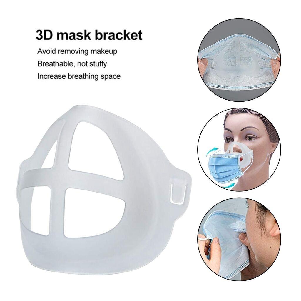 3D маска для рта, поддержка дыхания, вспомогательная маска, внутренняя подушка, кронштейн, пищевой силикон, держатель для маски, дышащая маска|Маски для вечеринки| | АлиЭкспресс - Аксессуары для ношения маски без боли