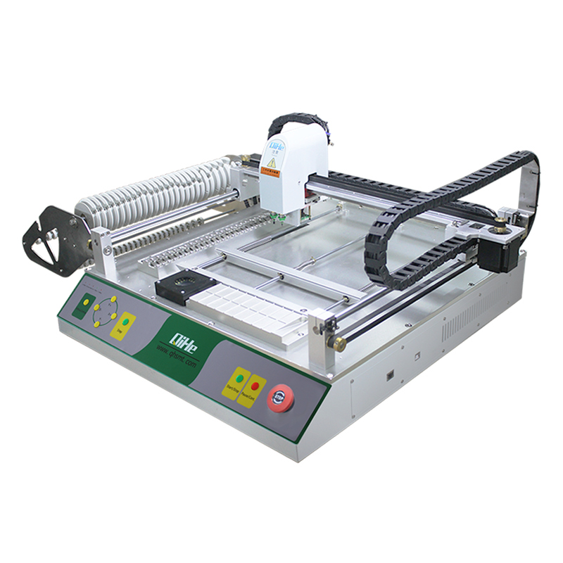 Qihe SMT Production Line Double LED Vision Automatic High Speed Pick And Place Machine With Nozzle