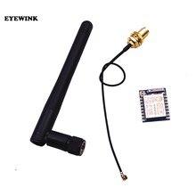 Esp8266 wifi módulo ESP-07 + 11cm 2.4g sem fio sma antena vara 2db ganho 2.5db para nrf24l01 pa 20cm adaptador cabo 3.3v 300ma