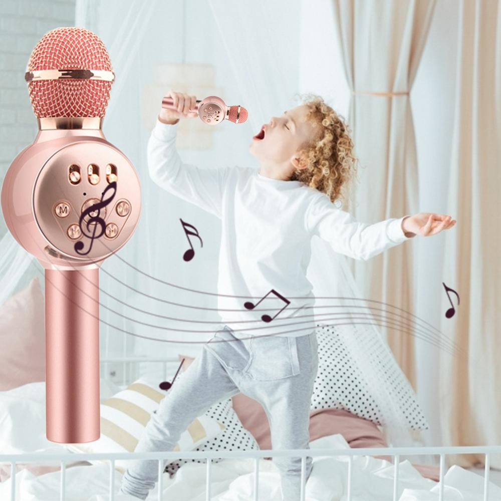 Lighting Toys Children Emulated Music Toys Funny Lighting Wireless Microphone Model Music Karaoke Luminous Toy Christmas Gift