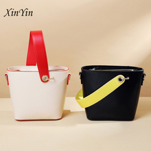 New cool simple shoulder bag casual tote designer fashion females PU leather hand solid color crossbody