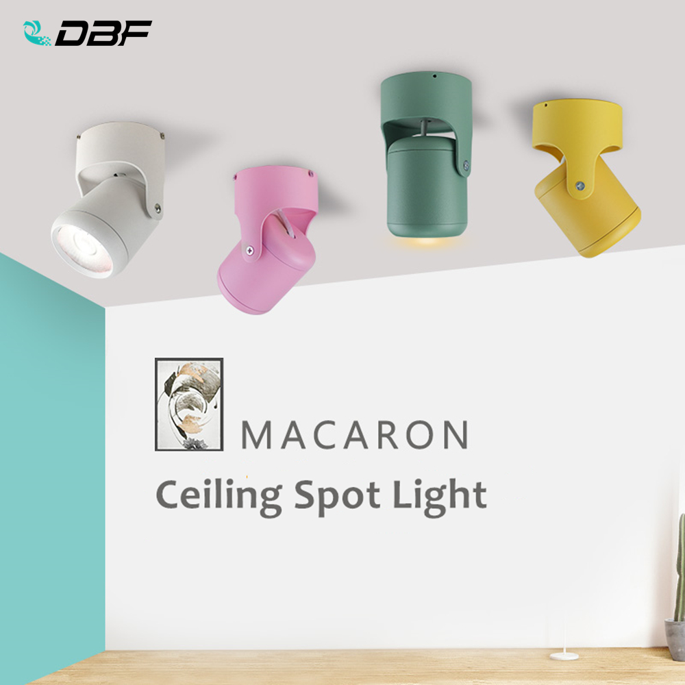 [DBF]Macaron Surface Mounted Ceiling Downlight 7W 10W 15W 20W LED Ceiling Spot Light AC110/220V For Kitchen Living Room Decor