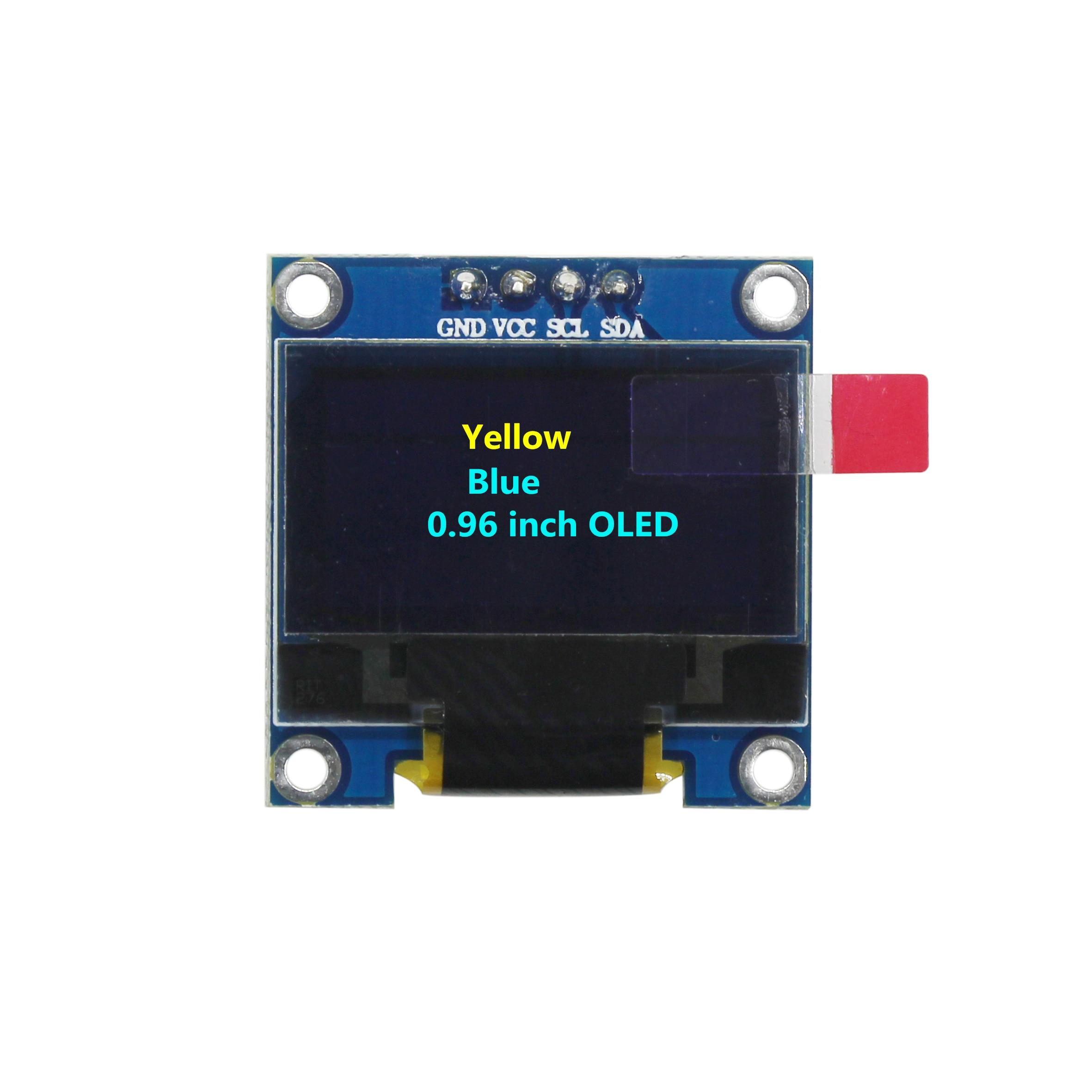0.96 Inch 128X64 OLED Yellow Blue/Blue/White Display Module 0.96 IIC Communicate For Arduino DIY Kit