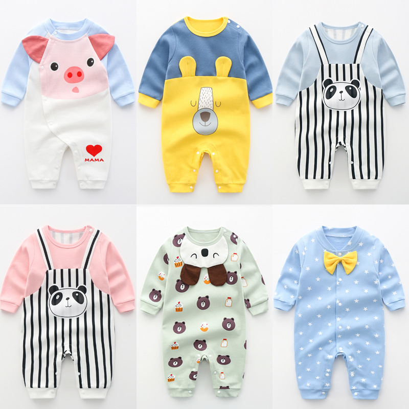 New Baby Rompers Newborn Long Sleeve Toddler Jumpsuit Boys Girls clothing Pure Cotton Cartoon Outfits Costume, baby boy clothes | Happy Baby Mama