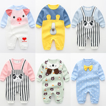 New Baby Rompers Newborn Long Sleeve Toddler Jumpsuit Boys Girls clothing Pure Cotton Cartoon Outfits Costume, baby boy clothes