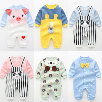 New Baby Rompers Newborn Long Sleeve Toddler Jumpsuit Boys Girls clothing Pure Cotton Cartoon Outfits Costume, baby boy clothes newborn baby boys girls romper cartoon print cotton long sleeve jumpsuit infant clothing pajamas toddler baby clothes outfits