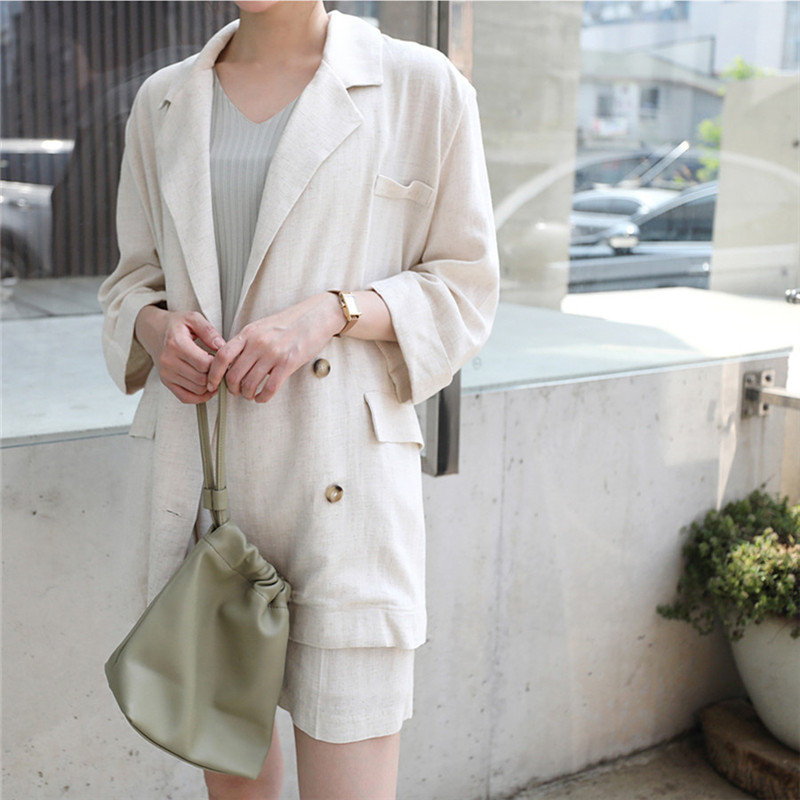 Alien Kitty Large Size Cotton Linen Office Ladies Gentle Work Casual All-Match Autumn High Quality Stylish Elegant Loose Blazers
