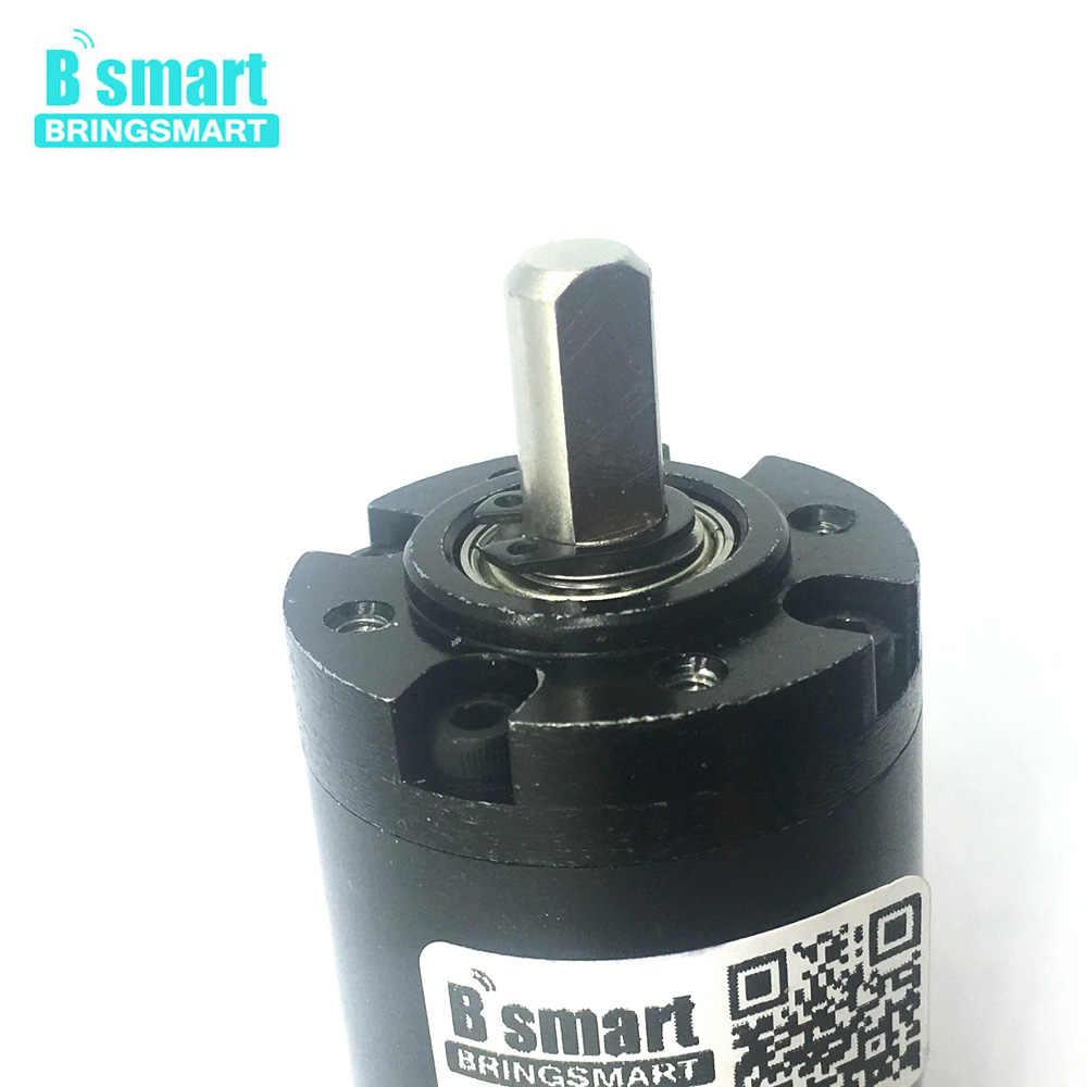 Motor de engranaje planetario Bringsmart PG36-555 DC 12V Motor eléctrico 24V Motor de microreducción de torsión de alto Torque para robot DIY