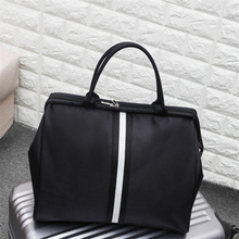 JULY'S DOSAC  Weekend Traveling Bag Ladies Stripe Handbag Big Travel Light Luggage Men Foldable Duffle Bags