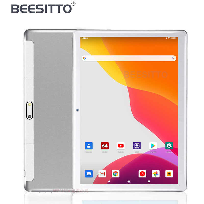 Nieuwste 10 Inch Tablet Android 9.0 Dual Sim 3G Telefoongesprek 32Gb Rom Wifi Bluetooth Android 1280X800 Ips 2.5D Glas 10.1 Tabletten Pc