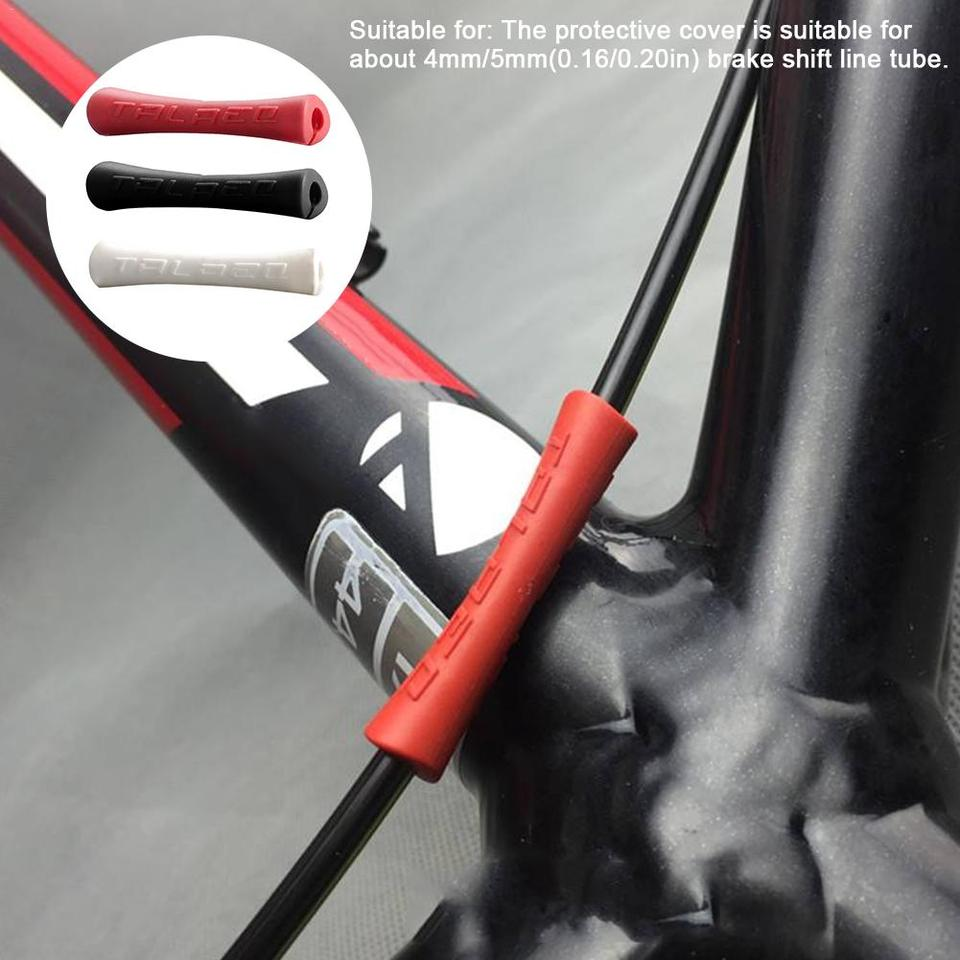 Bicycle Brake Cable Rubber Protector Sleeve For Pipe Line Break Frame Protector