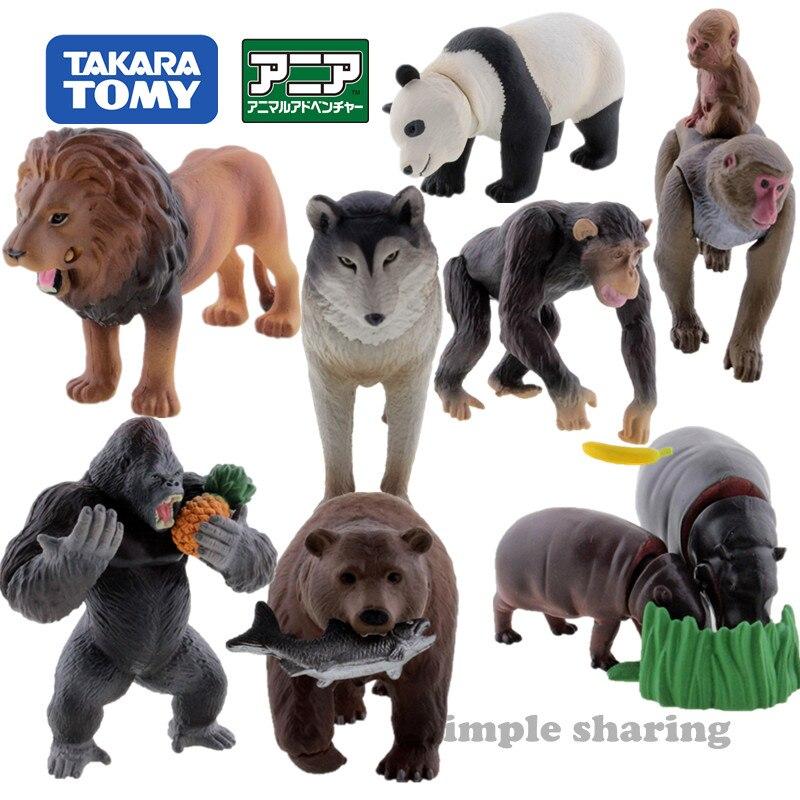 Takara tomy tomica ania floresta animal advanture modelo kit quente educacional diecast resina brinquedos do bebê engraçado crianças bonecas série