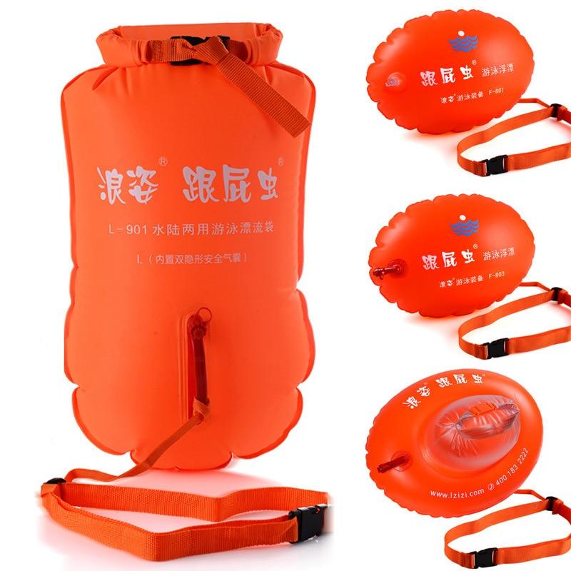 LANGZISPORTING Stooge Swim Bag Double-Balloon Buoy Waterproof Bag Thick Storage Drifting Bag Iron Three Games Swimming Equipment