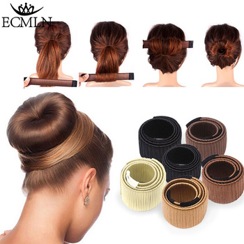 Hair Accessories Synthetic Wig Donuts Bud Head Band Ball French Twist Magic DIY Tool Bun Maker Sweet Dish Made - discount item  14% OFF Headwear