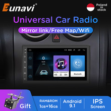 Eunavi Car Radio Android 9 Multimedia Video Player Universal 2 Din Auto Stereo Audio WIFI FM 7 inch Touch Screen GPS Navigation