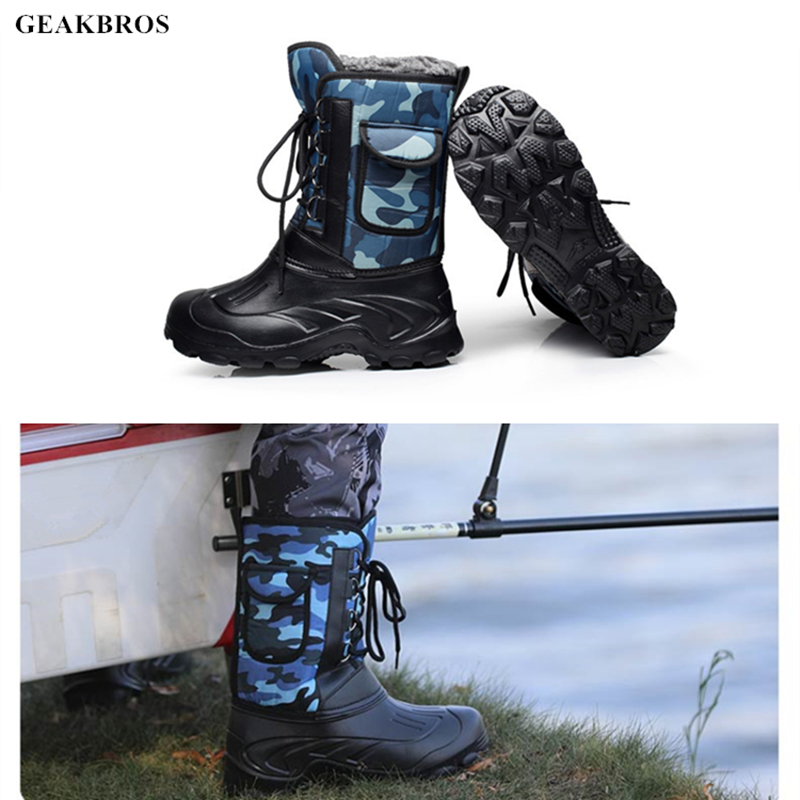 Waterproof Anti-slip Fishing Shoes Winter Snow Boots Outdoor Keep Warm Waders Hunting Camping Boots Rock Ice Sea Fishing Shoes