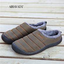Унисекс зимняя обувь из хлопка для мужчин и женщин удобные мягкие