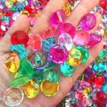 20mm acrílico cristal falso diamante jóias crianças tesouro baú crianças cosplay adereços acessórios festa de halloween favor natal