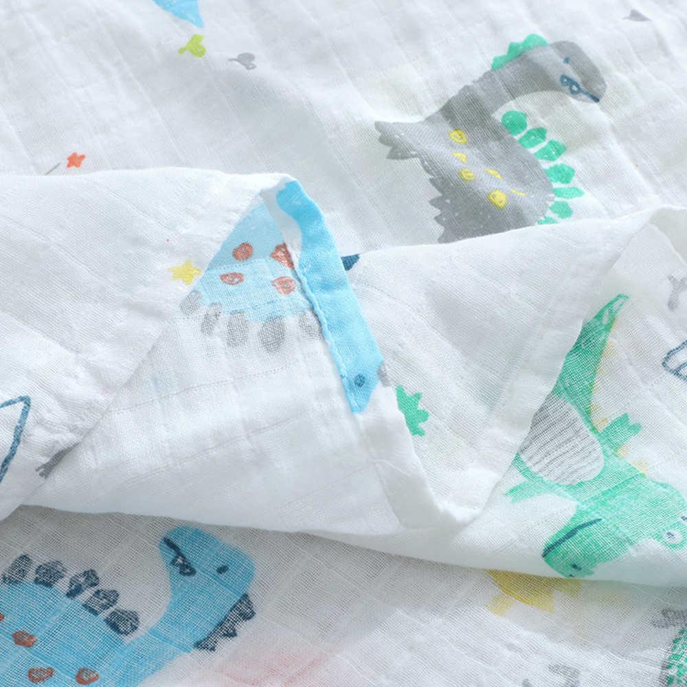 2 unids/lote muselina 100% algodón franela mantas de bebé suave mantas para recién nacidos mantas de bebé recién nacido pañales de bebé Swaddle Wrap 120*110