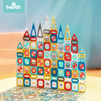BabyGo 82Pcs Magnetic Construction Set Children Magnet Building Toy ABS Magnetic Blocks Puzzle Educational Toys For Kids Gift