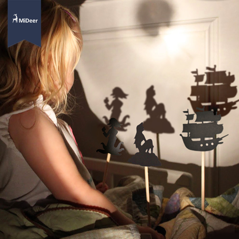 MiDeer Kids Fairy Tale Story Shadow Puppets Imagination Educational Toys For Children Interesting Projection Art Games Gift Set