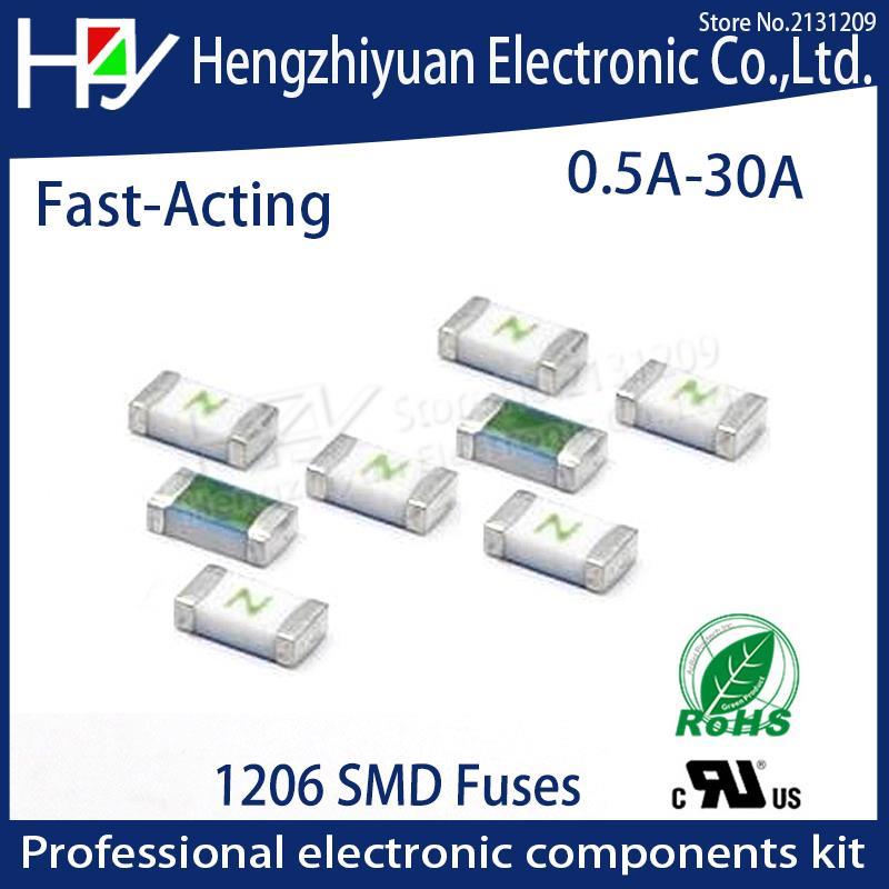 Один раз положительное разъединение SMD Восстанавливающий предохранитель 1206 3216 0.5A 1A 1.5A 2A 2.5A 3A 4A 5A 6A 7A 8A 10A 12A 15A 20A 30A быстрое действие