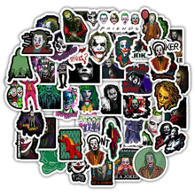 50PCS The Joker Anime Stickers Cartoon Clown Style For Case Laptop Motorcycle Skateboard Luggage Decal Children Toy Sticker F5 50pcs newly movie it chapter two joker anime sticker cartoon for skateboard guitar laptop luggage furnitur decal toy stickers
