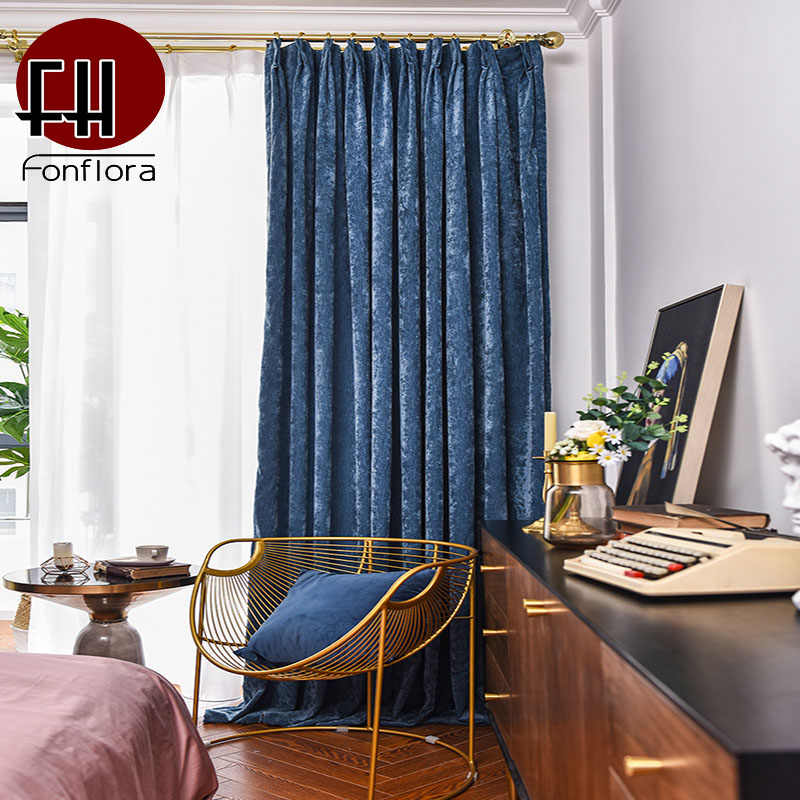chenille curtains for living room retro