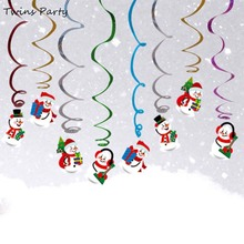 Twins Party  Christmas Swirls Decoration Ornaments Merry Decor For Home Pendant Kids Favors Birthday