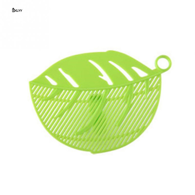 Sale Kitchen Gadgets Rice Wash Filter Baffle Home Decoration Accessories Leaf Shaped Rice Cleaning Filter Kitchen Tools Gadget.T