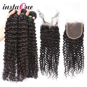 28 paquets brésiliens d'armure de cheveux de vague profonde de 30 pouces avec la fermeture 3 4 paquets cheveux humains bouclés et vague d'eau de cheveux de Remy de fermeture