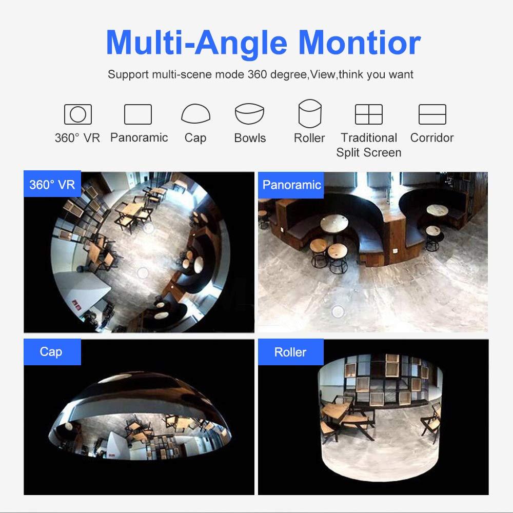 cheapest ZOSI Wireless IP Camera WiFi Panoramic Fisheye Video Surveillance Camera 3MP Ultra HD 360 Full Degree View Angel VR CCTV Camera