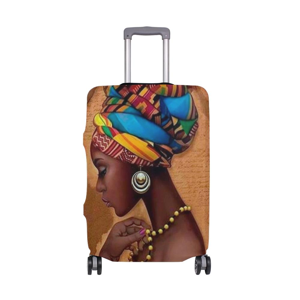 ALAZA African Women Travel Suitcase Protective Luggage Cover Case Travel Accessories Elastic Luggage Dust Cover Apply 18''-32''