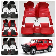 Custom made Car Floor Mats for All Models Hummer H2 H3 All Weather Luxury Leather Suvs Foot Pads Automobile Carpet Cover cheap Artificial leather CN(Origin) Synthetic Fiber Leather Mat Mats Carpets 2 6kg Waterproof dust-proof Protects stains durable dirt Easy to clean