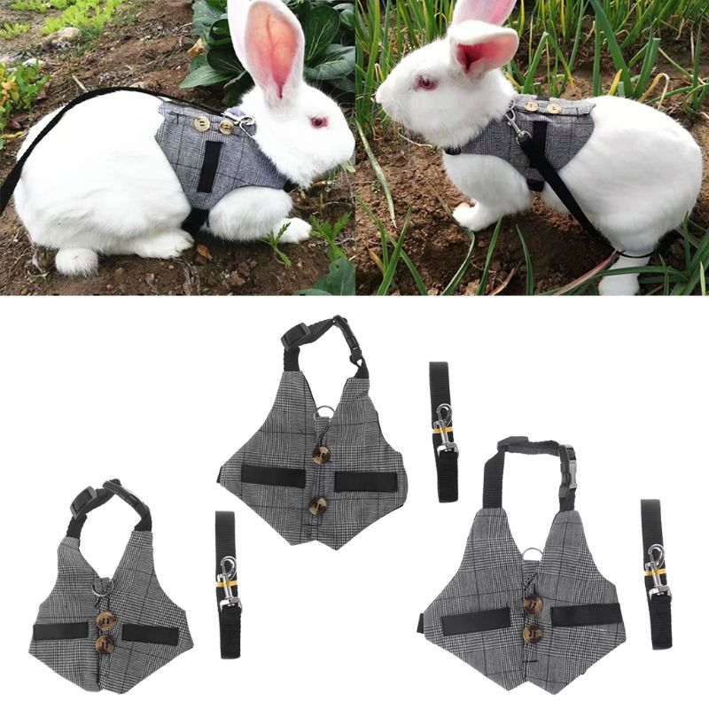 Multipurpose Hamster Rabbit Harness Vest Small Pet Leash Chinchillas Guinea Pig Vest Clothes Small Animal Supplies C42